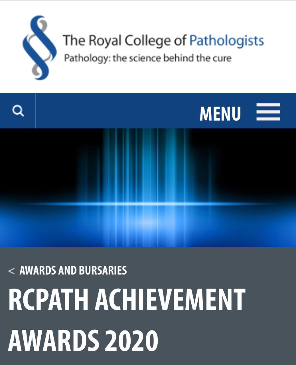 الملكية البريطانية لعلم الأمراض تمنح الدكتور اسماعيل مطالقة جائزة الإنجاز والتميز لعام 2020