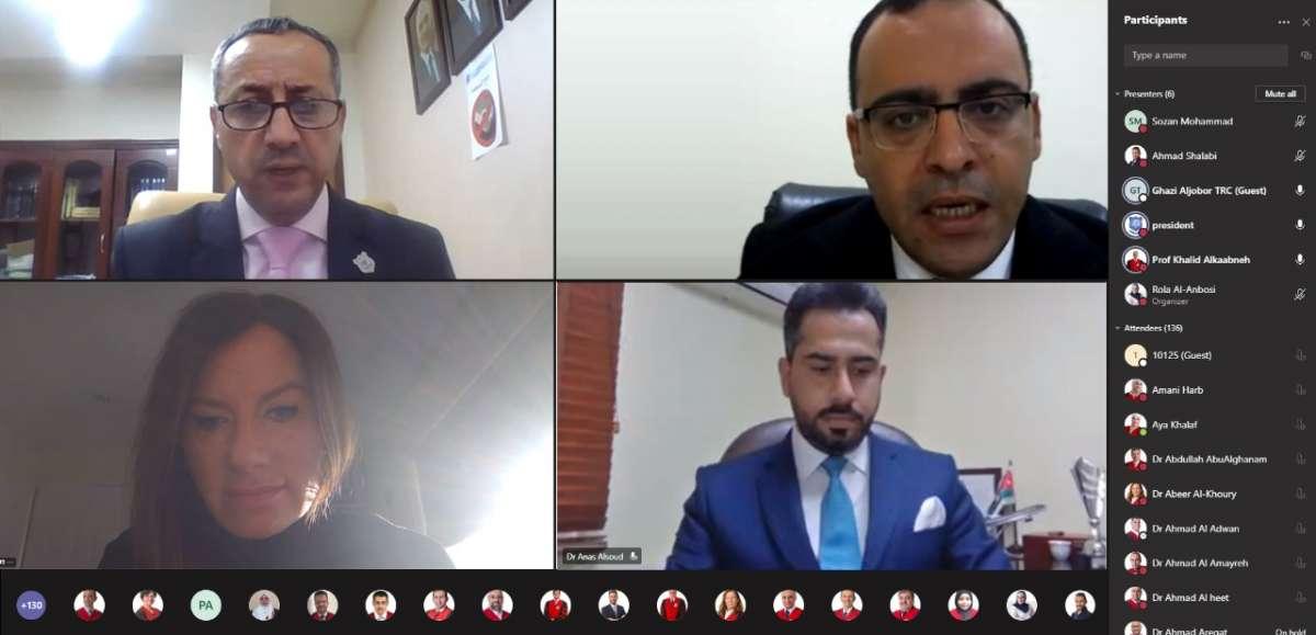 فعاليات اليومين الثاني والثالث والتوصيات للمنتدى العلمي بجامعة عمان الاهلية حول جائحة كوفيد -19