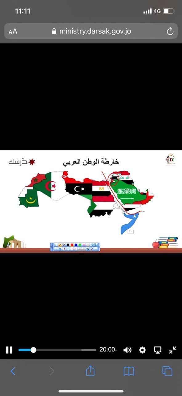 العجارمة ل الاردن 24 : علم فلسطين لايمكن شطبه من المناهج الدراسية _ صور وفيديو