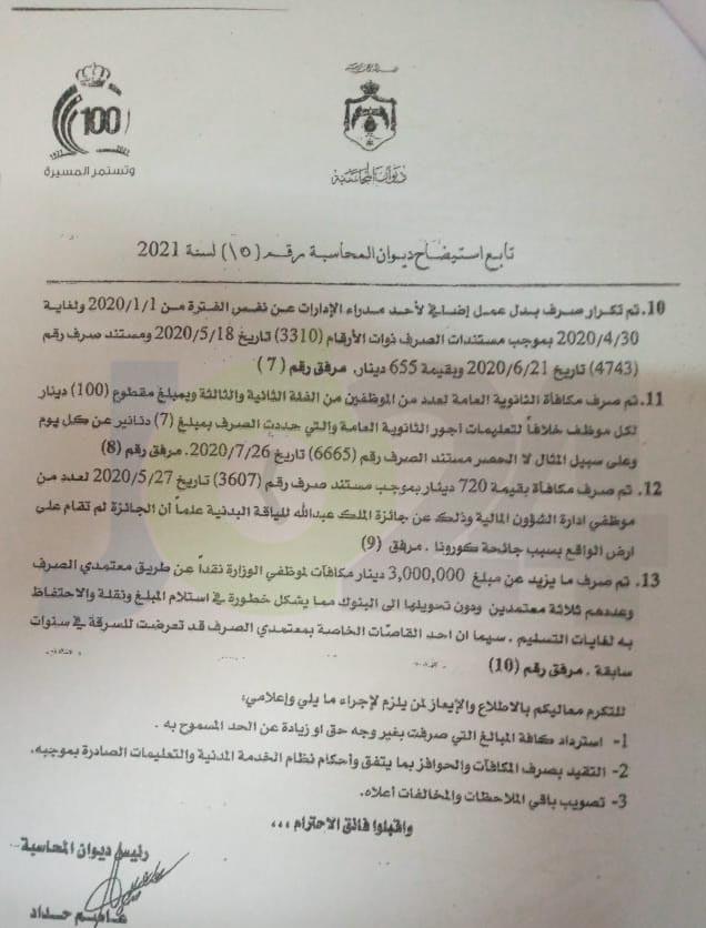 الى وزير التربية: ما هو سرّ عدم الاجابة على استيضاح ديوان المحاسبة رقم (15)؟!