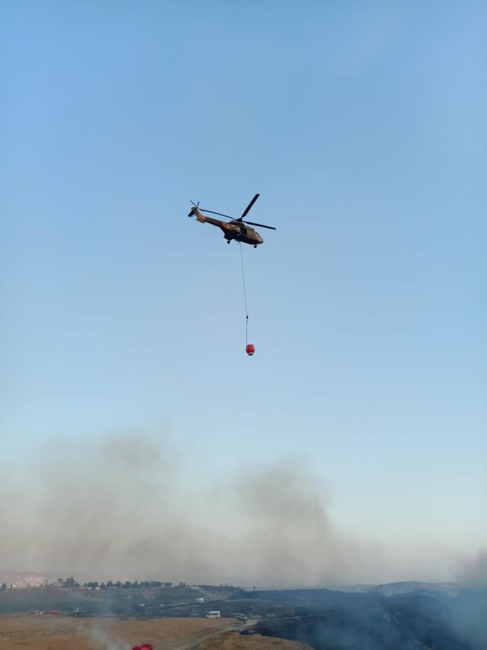 طائرتان من سلاح الجو الملكي شاركت في عمليات إخماد الحريق